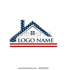 American Roof Construction Logo Illustration
