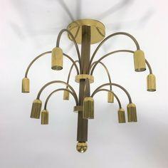 For sale: Vintage brass Sciolari chandelier, Wall Lights, Ceiling Lights, 1960s, Sconces, Chandelier, Brass, Studio, Lighting, Vintage
