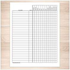 The notary journal single page is a form featuring a table with