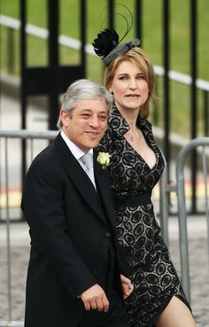 House of Commons Speaker John Bercow and his wife Sally Bercow arrive to attend the Royal Wedding of Prince William to Catherine Middleton