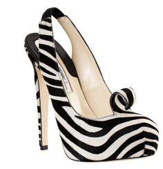 Sexy zebra wedding shoes