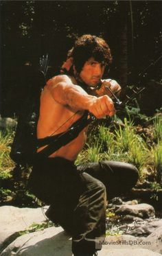 A gallery of Rambo: First Blood Part II publicity stills and other photos. Featuring Sylvester Stallone, Julia Nickson, Richard Crenna, Andy Wood and others. Hero Movie, Movie Tv, Silvestre Stallone, Rambo 2, Sylvester Stallone Rambo, Stallone Movies, Stallone Rocky, Male Pose Reference, Superman Artwork