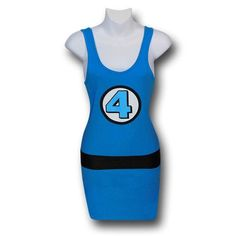 Amazon.com: Fantastic Four Costume Women's Tank Dress: Clothing
