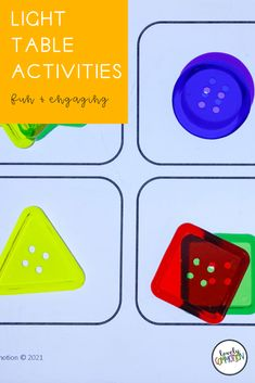 We have a light table center in our preschool classroom. I love using the light table to practice important pre-k skills. Come learn about 10 engaging light table activities that are fun and full of learning! Play Based Learning, Learning Centers, Kids Learning, Preschool Centers, Preschool Classroom, Small Letters, Letters And Numbers, Classroom Organization, Organization Ideas