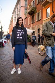 Street style at Milan Fashion Week Spring 2017