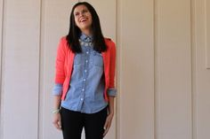 Chambray and cardi