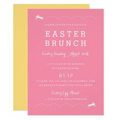 Easter Brunch Bunny   Easter Party Invitation #easter #partyinvites #invitations Potluck Invitation, Easter Invitations, Dinner Invitations, Invitation Wording, Zazzle Invitations, Easter Brunch, Easter Party, Bunny Party, Easter Celebration