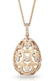 Fabergé Imperatrice diamond rose gold pendant