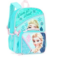 75fb0f4174d Disney Frozen  Elsa  16 inch Full-Size Backpack With Detachable Lunch Bag