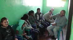 Honduras Jan. 2014 Medical/Dental Brigade, San Antonio Valle - Marvin sharing the Gospel with people waiting fore dentist