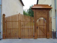 Székely kapu (Székely ház), Bonyhád (Hungary) - Fotó: Szarvas Irén Portal, Wooden Gates, Cafe Shop, Entrance Gates, Homeland, Hungary, Romania, Budapest, Symbols