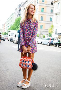 Street Style at MilanFashion Week Spring/Summer 2014 Photographed by Adriano Cisani