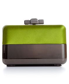 BCBGMAXAZRIA Handbag, Benatar Pyramid Half Metal Hard Clutch - All Handbags - Handbags & Accessories - Macy's
