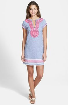 Vineyard Vines Embroidered Tunic Dress available at #Nordstrom