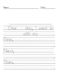 Beginning writing paper