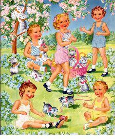 Kathleen Taylor's Dakota Dreams: Thursday Tab- Saalfield Honey Kitten * 1500 free paper dolls Arielle Gabriel's The International Paper Doll Society free paper dolls for Pinterest pals *