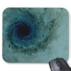 Abstract blue-green eye of the hurricane mouse pad.