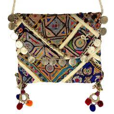 Handmade Banjara Crossbody Bag Tribal Bag Boho  by loveandlucky, $40.00