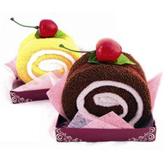 Washcloth Cake Rolls! Love!