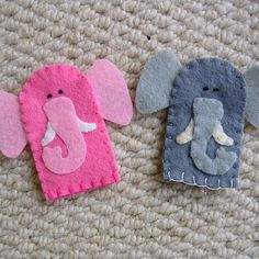 Elephant finger puppets