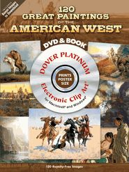 120 GREAT PAINTINGS OF THE AMERICAN WEST PLATINUM DVD AND BOOK - 128 pages - Magnificent panoramas of natural beauty abound in this original collection, along with portraits of cowboys and Indians and other scenes from frontier days. Features famous works by 43 artists, including Albert Bierstadt, George Catlin, and Frederic Remington. Each painting can be printed at poster size and you can play a slideshow of the images on your TV or computer. - $34.95  On Sale!$13.98