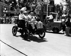 Disney History | The Walt Disney Company  July 17, 1955 Disneyland, the first Disney park, opened in Anaheim, California, to an invited audience on this day. The first guests were Kristine Vess and her cousin Michael Schwartner, ages 5 and 7.