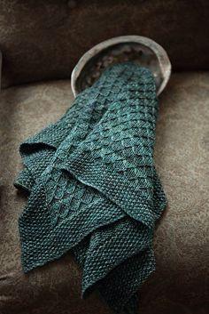 Llyr Baby Blanket by Nat Raedwulf | malabrigo Rios in Aguas