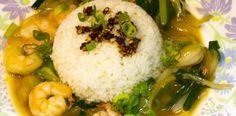 Creveti cu ghimbir si ceapa verde in stil chinezesc. Calamari, Seafood, Grains, Rice, China, Green, Sea Food, Octopus, Seeds