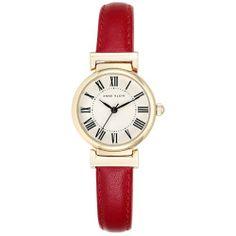 Ladies Anne Klein Red Strap Watch , Red/Gold