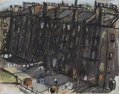 Joan Kathleen Hardy Eardley - A Glasgow Tenement Urban Landscape, Abstract Landscape, Landscape Paintings, Costa, Glasgow School Of Art, Urban Life, Illustrations, Photos, Fine Art