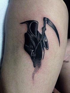 Small Death Reaper Tattoo - CreativeFan