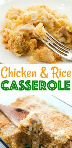 Mom's Chicken and Rice Casserole recipe from The Country Cook