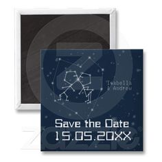Shop Love Constellation Save the Date Magnet created by WeddingDreamland. Save The Date Magnets, Round Magnets, Paper Cover, Constellations, Wedding Favors, Recycling, Dating, Shapes, Love
