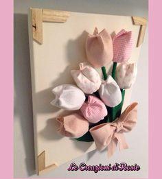 Quadro con tulipani di stoffa | Куколки | Pinterest | Serendipity