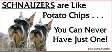 SCHNAUZER (CROP) - You Can Never Have Just One! PHOTO Window Sticker...... This is sooooooo true! :)