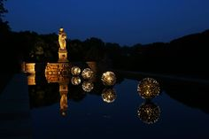 When we think of large-scale light installations, Bruce Munro instantly comes to mind. From light bulb gardens to large waterlilies made out of recycled CD Pond Filters, The Scout Guide, Garden Bulbs, Modern Metropolis, Light Installation, Water Lilies, Water Features, Landscape Architecture, Art Museum