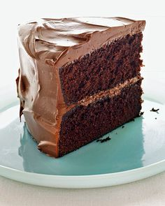 Devil's Food Cake with Milk Chocolate Frosting - @Martha Stewart Living