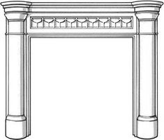 FP6 Charnley - Art Deco Fireplace