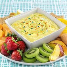 Creamy #Tropical Fruit #Dip from Pillsbury® Baking