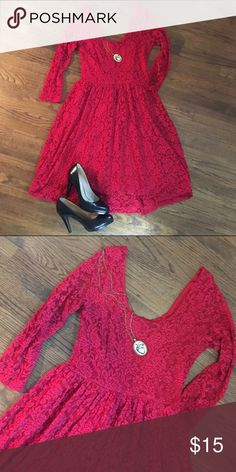 Spotted while shopping on Poshmark: Red Stretch Lace Dress! #poshmark #fashion #shopping #style #Jody #Dresses & Skirts