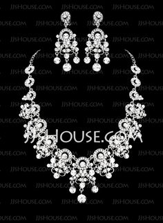 Royal Ladies' Jewelry Set (011016828) http://jjshouse.com/Beautiful-Rhinestone-Royal-Ladies-Jewelry-Set-011016828-g16828
