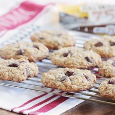 Coconut Oil Oatmeal Dark Chocolate Chip Cookies - big time family fave!