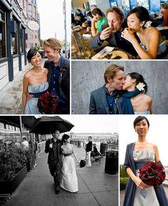Joel Flory, Dream A Little Dream Events Wedding san francisco blue wedding dress