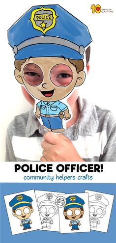 Police Officer Mask Template