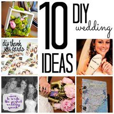 10 easy, cute, DIY wedding ideas