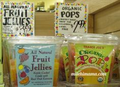 dye free candies at Trader Joes for kids instead of fruit snacks