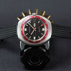 "60518a91479 NOS 1970 s CARAVELLE by Bulova ""666ft"" Diver Watch – Automatic D D AS Cal.  1906. BulovaRelógio AutomáticoMergulhoAnos ..."