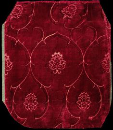Velvet Place of origin: Italy  Date: second half 15th century Materials and Techniques: Silk velvet Museum number: 555-1884 | V&A