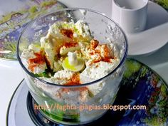 Τυροκαυτερή ή χτυπητή Cheese Recipes, Snack Recipes, Cooking Recipes, Snacks, Greek Recipes, Finger Foods, Potato Salad, Side Dishes, Dips