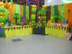 Decoración fiestas infantiles motivo safari - Imagui